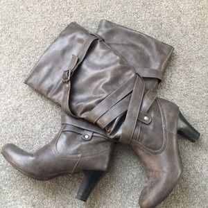 Madden Girl Boots with Buckle Detail